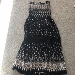 Dresses & Skirts - Strapless casual cotton dress, size M